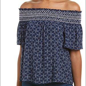 Laundry by Shelli Segal Off shoulder top NWT